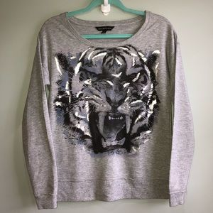 Rock & Republic Tiger Foil Sweatshirt, Women's XS